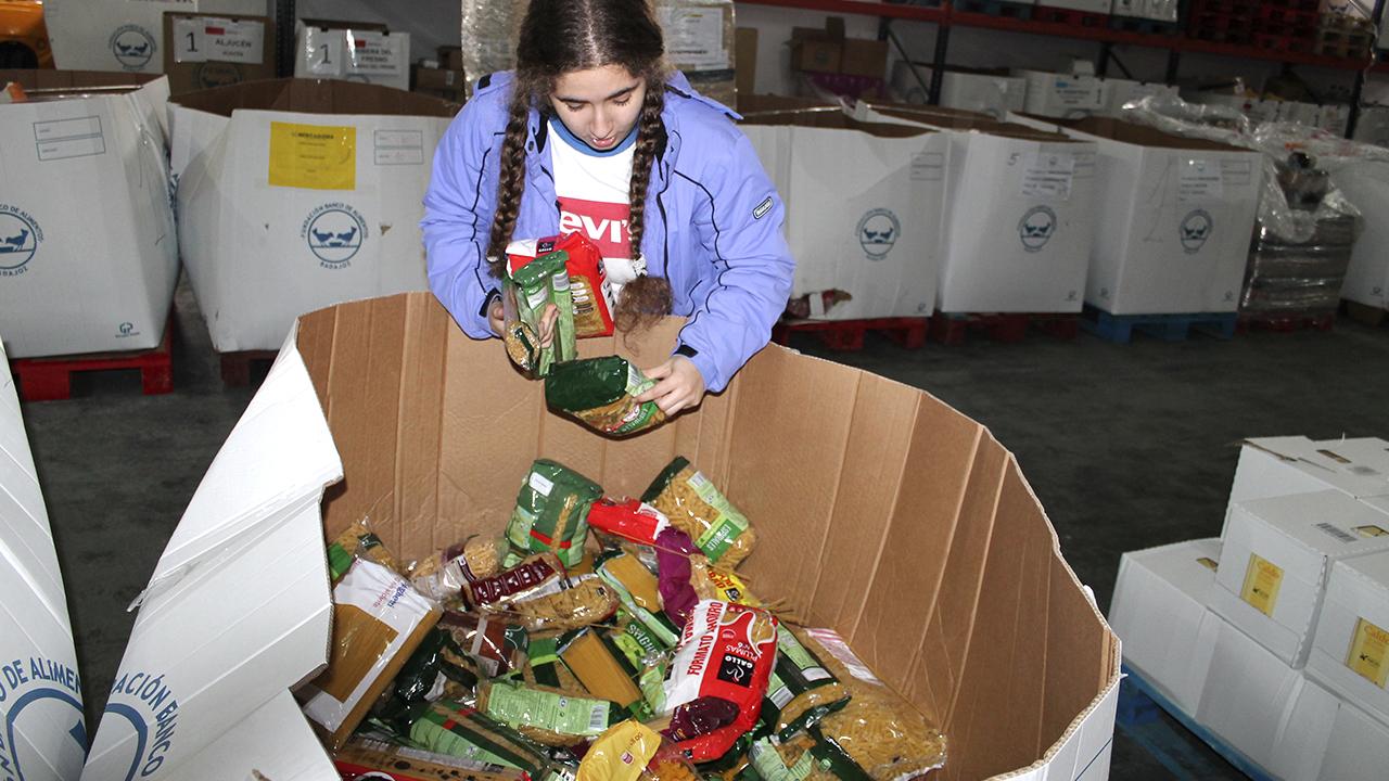 Marisa Félix en el banco de alimentos
