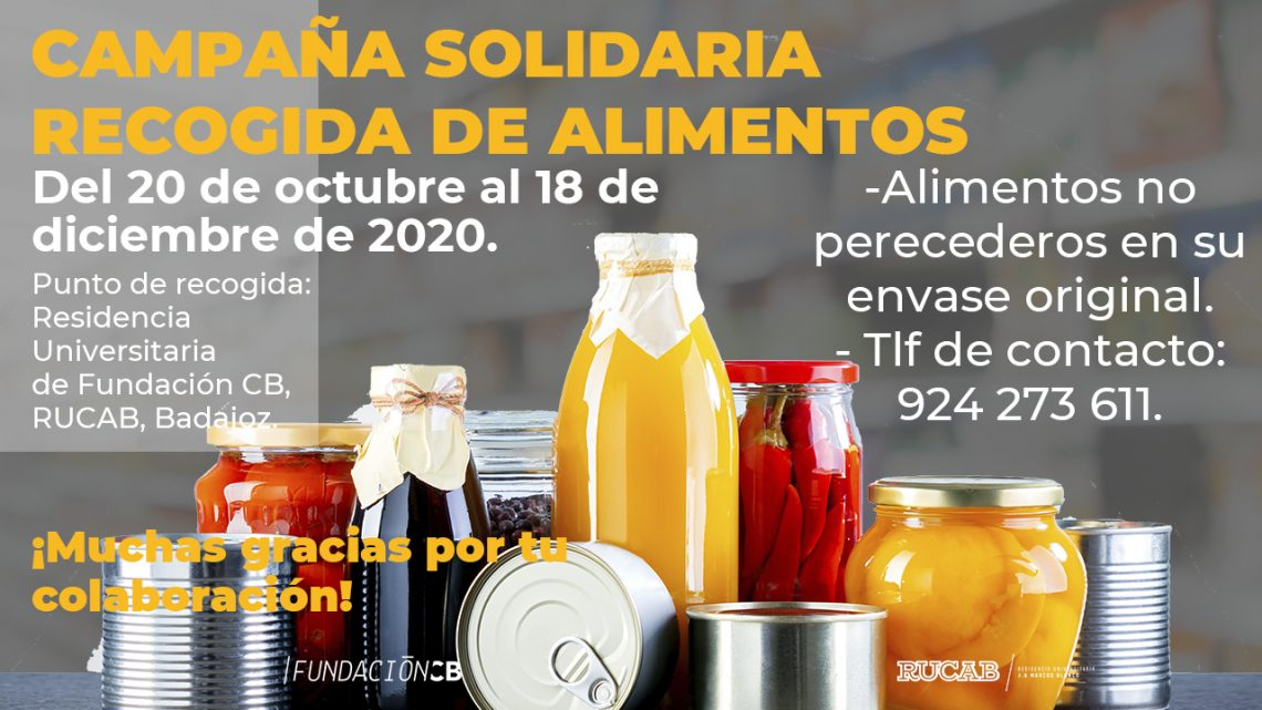 Campaña solidaria de alimentos en la RUCAB