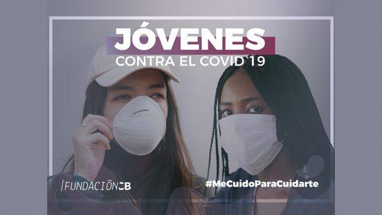 Jóvenes voluntarios contra el covid-19