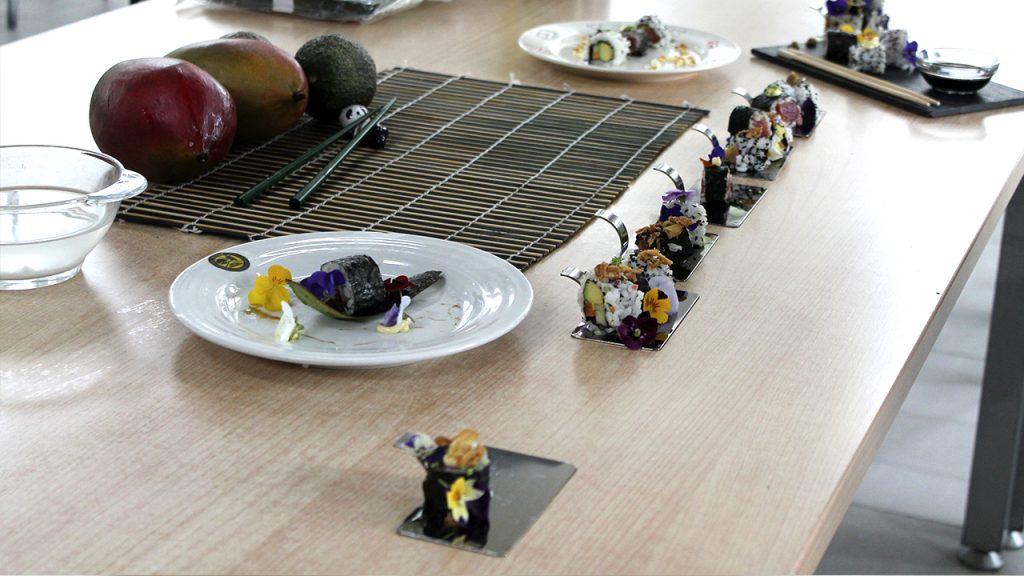 Elaboraciones taller de sushi
